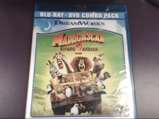 MADAGASCAR: ESCAPE 2 AFRICA, BLU-RAY DVD, TWO-DISC SET (2010)