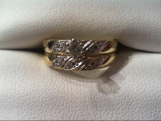 Lady's Diamond Wedding Set 11 Diamonds .26 Carat T.W. 14K 2 Tone Gold 3.6g