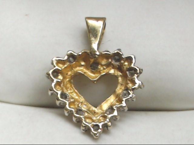 Gold-Multi-Diamond Pendant 10 Diamonds .10 Carat T.W. 10K Yellow Gold 1.2g