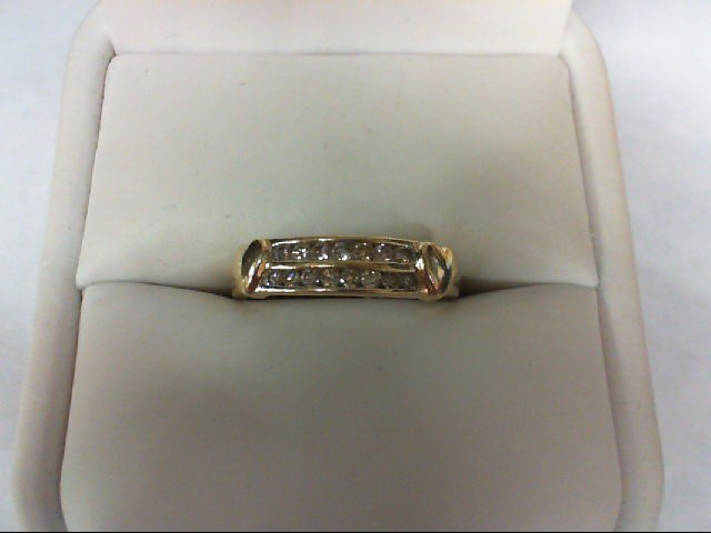 Lady's Diamond Wedding Band 15 Diamonds 0.3 Carat T.W. 14K Yellow Gold 2.2g Size