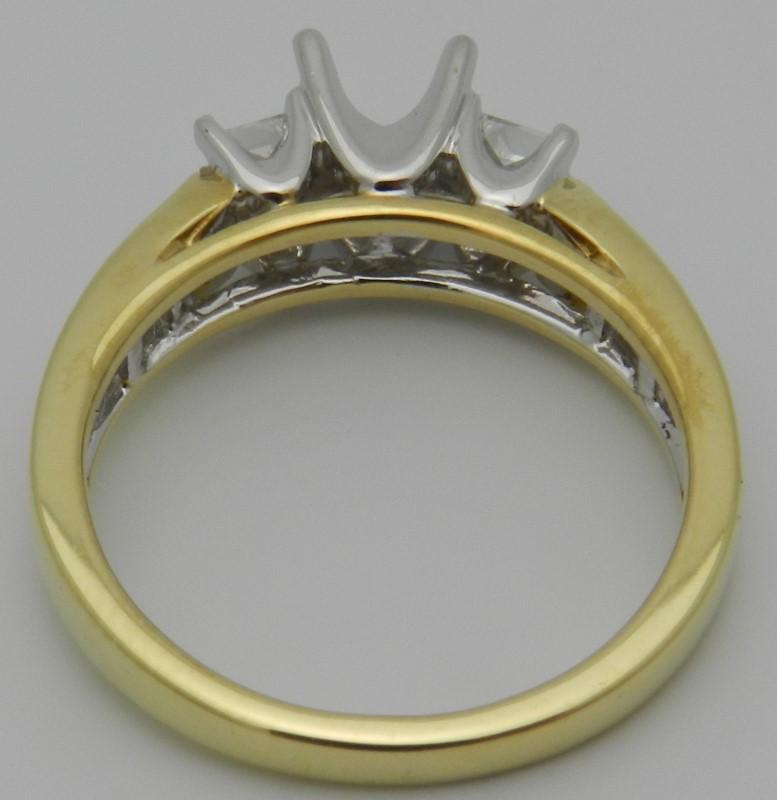 Lady's Diamond Engagement Ring 16 Diamonds .58 Carat T.W. 18K Yellow Gold 5g