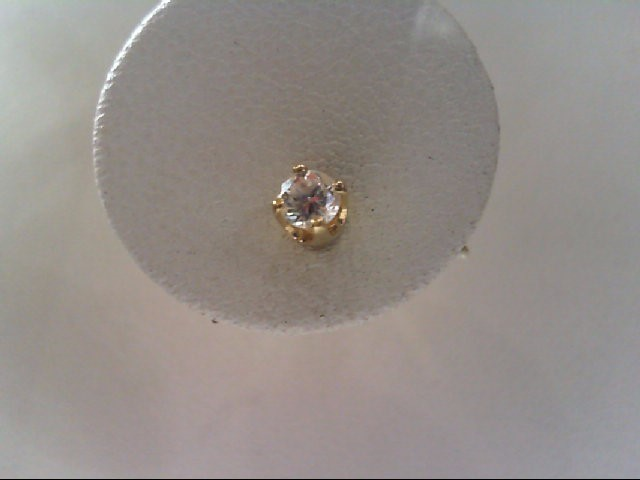 Gold-Diamond Earrings 2 Diamonds .24 Carat T.W. 14K Yellow Gold 0.6g