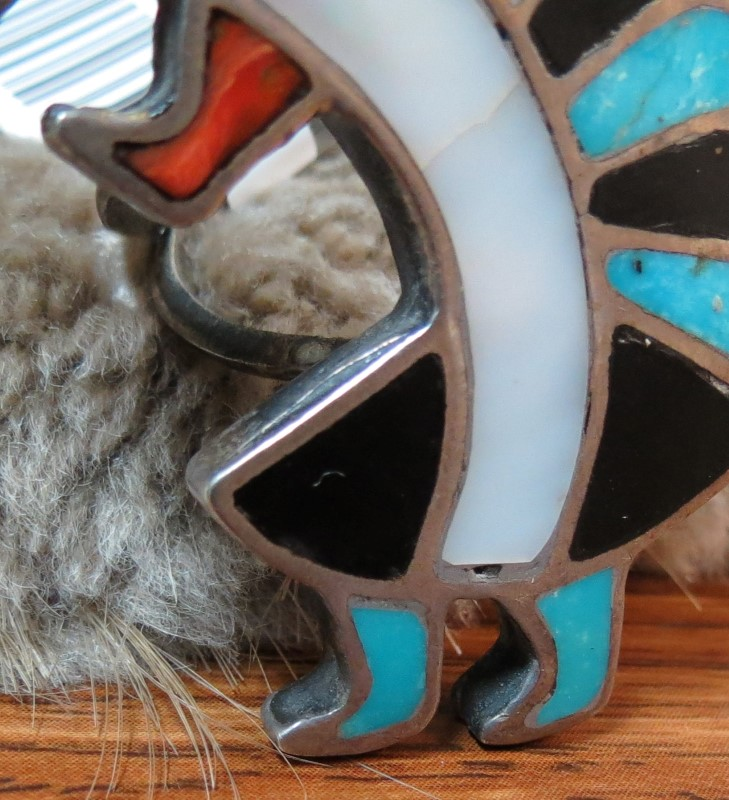 VINTAGE KOKOPELLI - Hopi Dancer INLAY RING