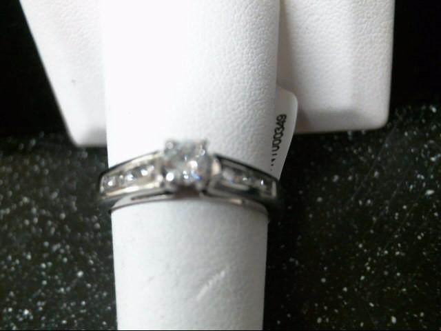 Lady's Platinum-Diamond Anniversary Ring 7 Diamonds .51 Carat T.W. 950 Platinum