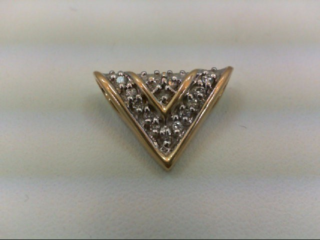 Gold-Multi-Diamond Pendant 14 Diamonds 0.28 Carat T.W. 14K Yellow Gold 2g