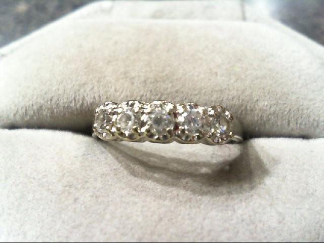 Lady's Gold Ring 14K White Gold 2.4g