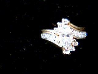 Lady's Diamond Engagement Ring 17 Diamonds 1.90 Carat T.W. 14K Yellow Gold 6.4g