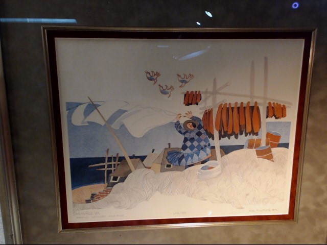 RIE MUNOZ PRINT 648/750 1992 DRYING LAUNDRY AND FISH