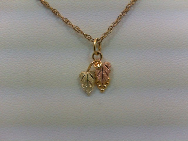 Gold Pendant 10K Tri-color Gold 0.3g