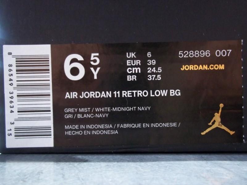 NIKE AIR JORDAN 11 RETRO LOW BG SIZE 6.5Y
