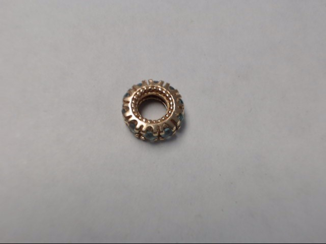 Bead Charm 14K Yellow Gold 1g