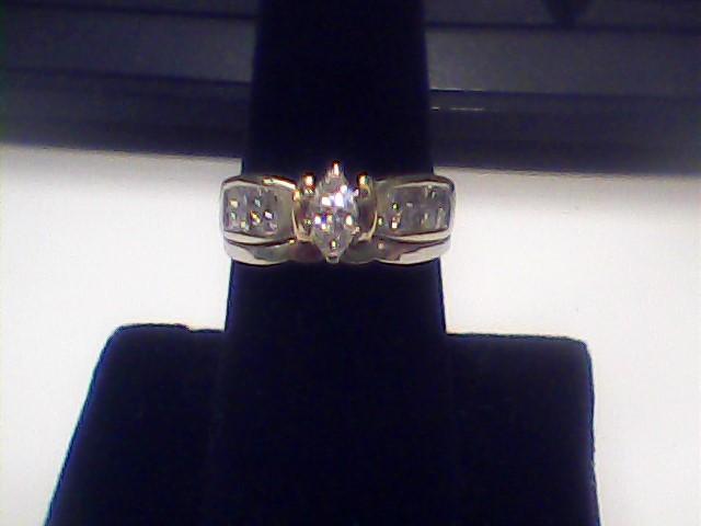 Lady's Diamond Wedding Set 17 Diamonds 1.06 Carat T.W. 14K White Gold 4.4dwt
