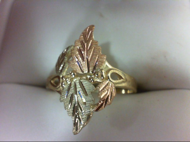 Lady's Gold Ring 10K Yellow Gold 2.9g Size:7.75
