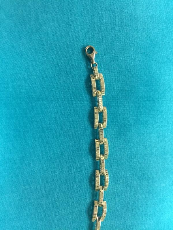 Gold Fashion Bracelet 14K Yellow Gold 3.7dwt