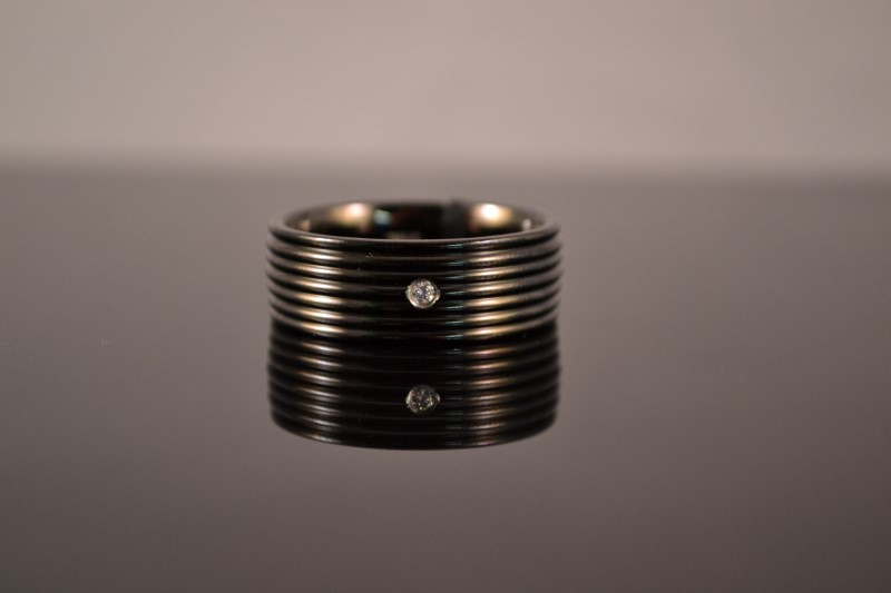 Gent's Ring Black Stainless 10g