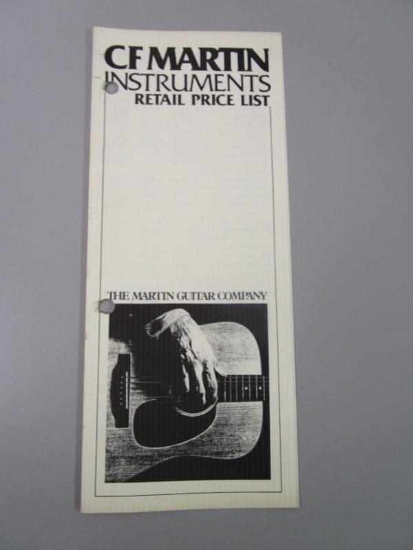 1985 C. F. MARTIN INSTRUMENTS RETAIL PRICE LIST, EFFECTIVE JULY 1, 1985