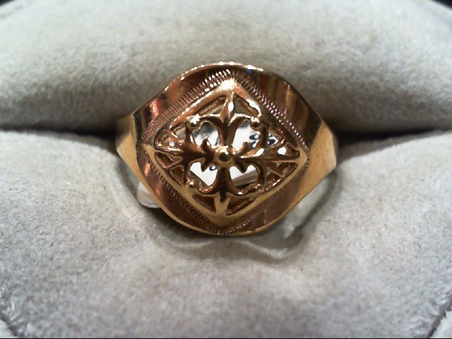 Lady's Gold Ring 14K Rose Gold 3.3g