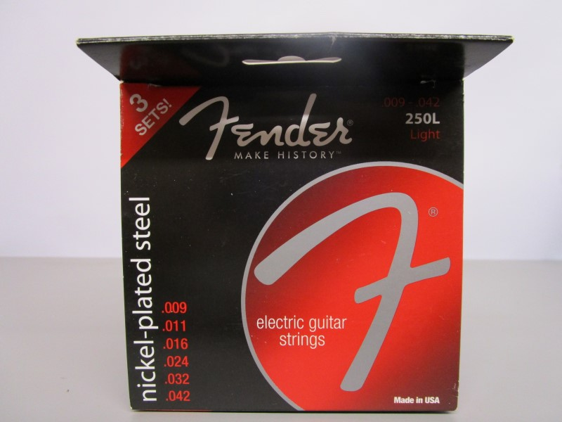 FENDER BASEBALL AND ELECTRIC GUITAR STRING SET, RARE!!!, NICKEL-PLATED STEEL, 25