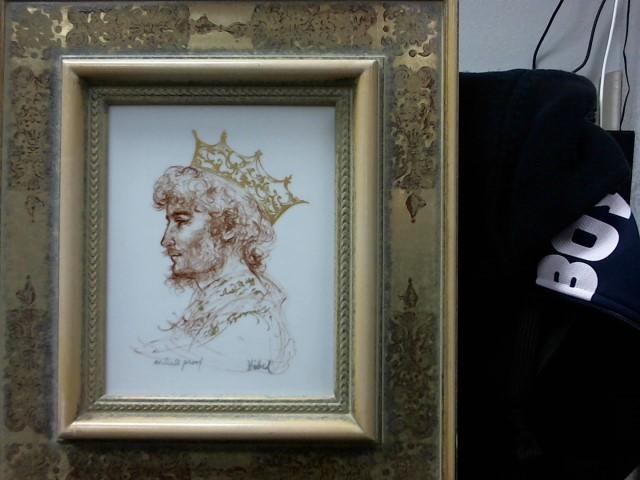 EDNA HIBEL Painting KING DAVID