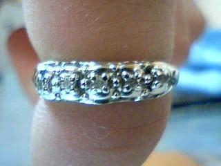 Lady's Diamond Wedding Band 5 Diamonds .05 Carat T.W. 14K White Gold 2.75g