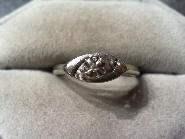 Lady's Diamond Fashion Ring .01 CT. 10K White Gold 2g