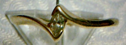 Lady's Diamond Solitaire Ring .09 CT. 14K Yellow Gold 0.96dwt Size:6.5
