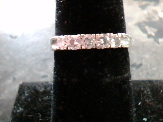 Lady's Diamond Wedding Band 5 Diamonds .40 Carat T.W. 14K White Gold 1.8dwt