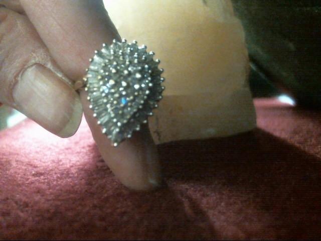 Lady's Diamond Cluster Ring 47 Diamonds .68 Carat T.W. 10K Yellow Gold 3.7dwt