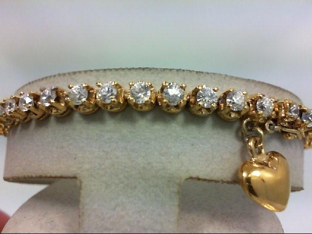 Cubic Zirconia Silver-Stone Bracelet 925 Silver 13.2g