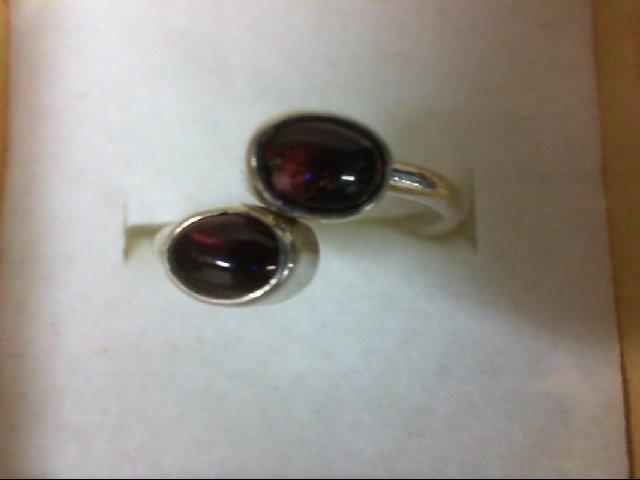 Almandite Garnet Lady's Silver & Stone Ring 925 Silver 2g