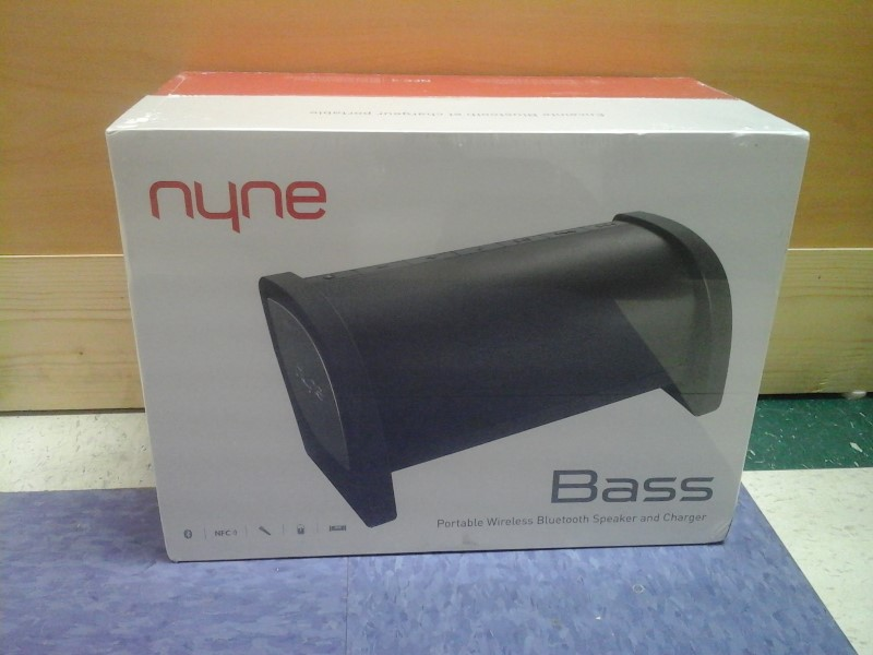NYNE BASS PORTABLE WIRELESS BLUTOOTH SPEAKER AND CHARGER