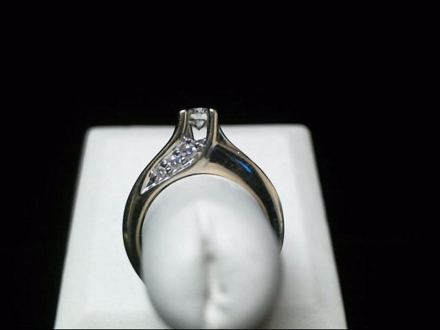 Lady's Diamond Engagement Ring 15 Diamonds 1.25 Carat T.W. 14K White Gold 6.8g