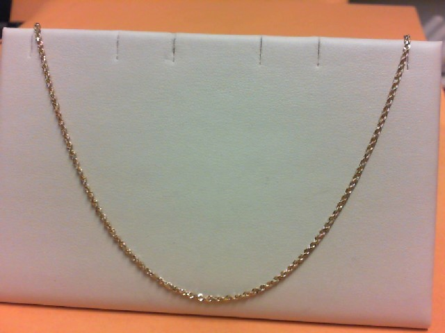 "18"" Gold Rope Chain 14K Yellow Gold 4.4g"