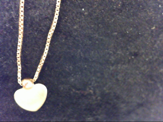 10K Yellow Gold 1.5g anklet w/ heart