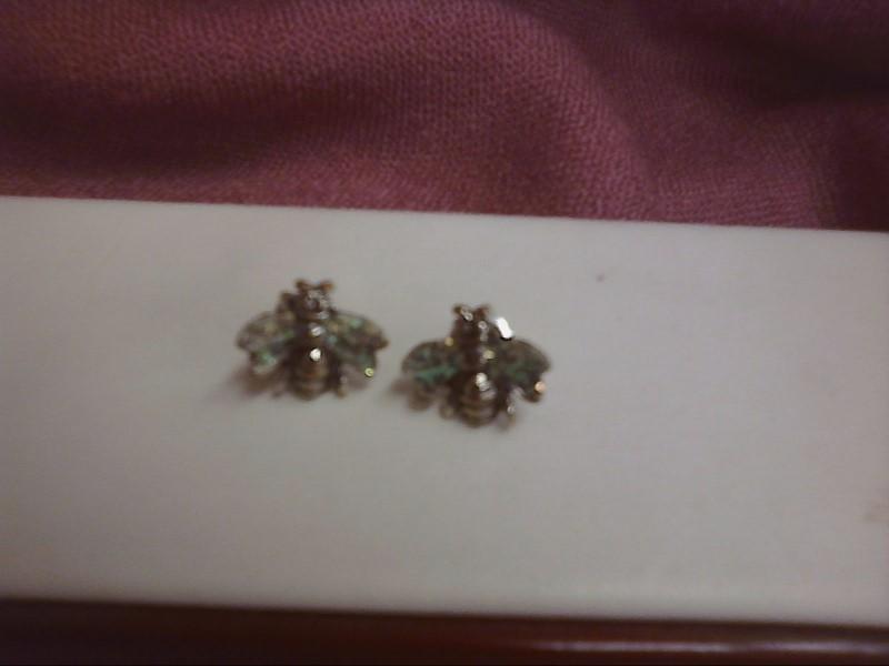 Silver Earrings Silver Plate 1.2dwt