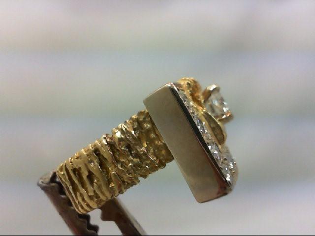 Lady's Diamond Cluster Ring 10 Diamonds 1.00 Carat T.W. 18K Yellow Gold 12.93g