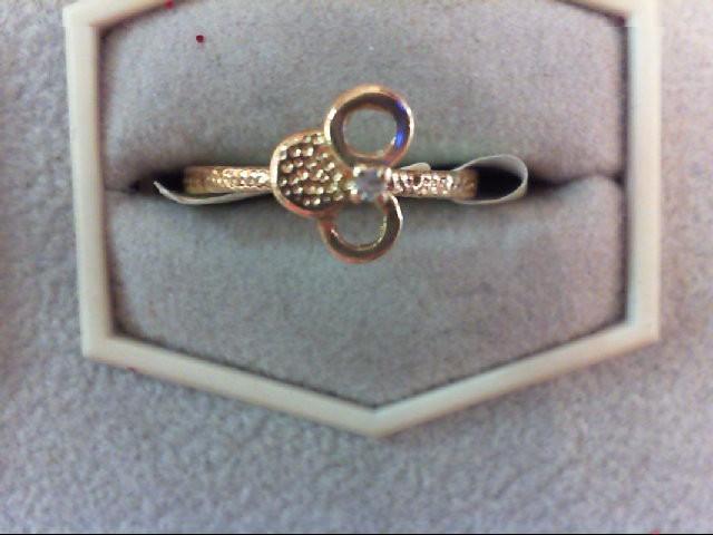 Lady's Diamond Fashion Ring .01 CT. 14K Yellow Gold 1.4g