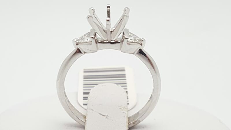 Lady's Platinum-Diamond Wedding Band 2 Diamonds .26 Carat T.W. 950 Platinum 5g