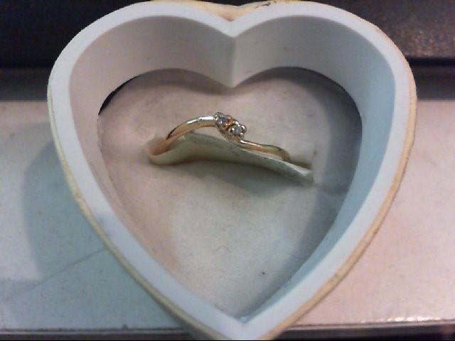 Lady's Diamond Engagement Ring 2 Diamonds .010 Carat T.W. 10K Yellow Gold 0.8g