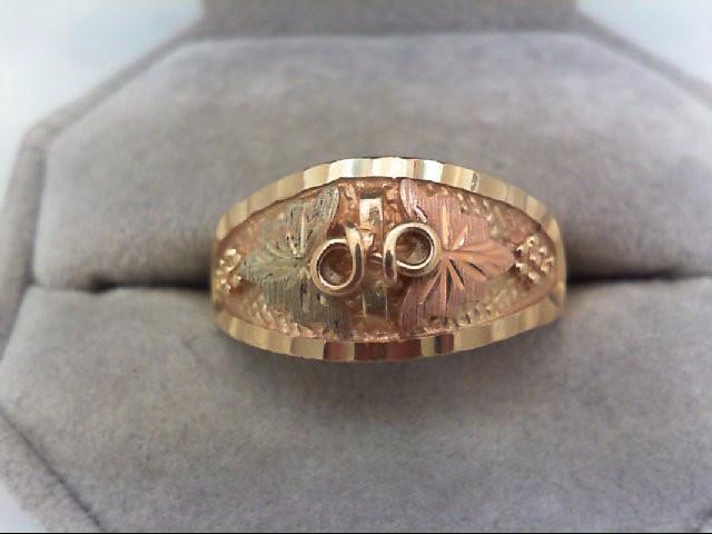 Gent's Gold Ring 10K Tri-color Gold 5.4g Size:10.75