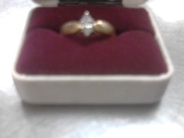 Lady's Diamond Solitaire Ring .50 CT. 14K Yellow Gold 5g