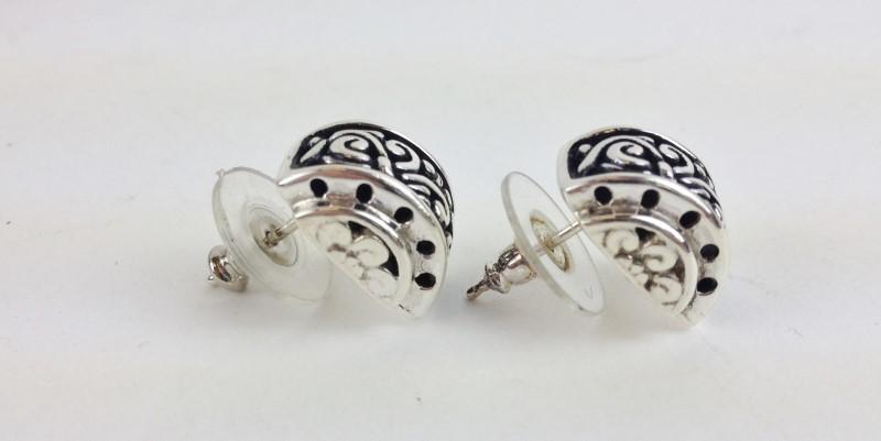 John Hardy Sterling Silver Earrings 6.4g