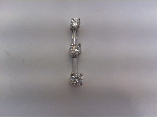 Gold-Multi-Diamond Pendant 3 Diamonds 0.24 Carat T.W. 14K White Gold 0.9g