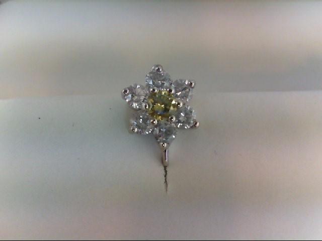 Gold-Diamond Earrings 14 Diamonds 1.50 Carat T.W. 14K White Gold 2.4g