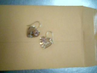 Gold Earrings 10K 2 Tone Gold 1g
