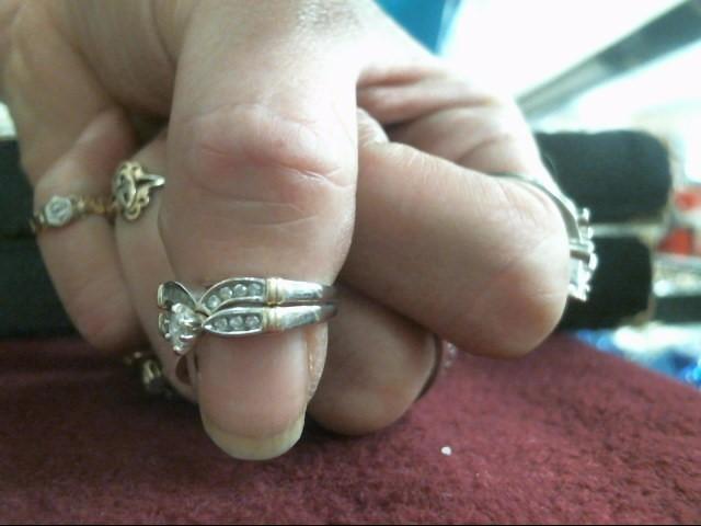 Lady's Diamond Wedding Set 15 Diamonds .23 Carat T.W. 10K 2 Tone Gold 2.9dwt