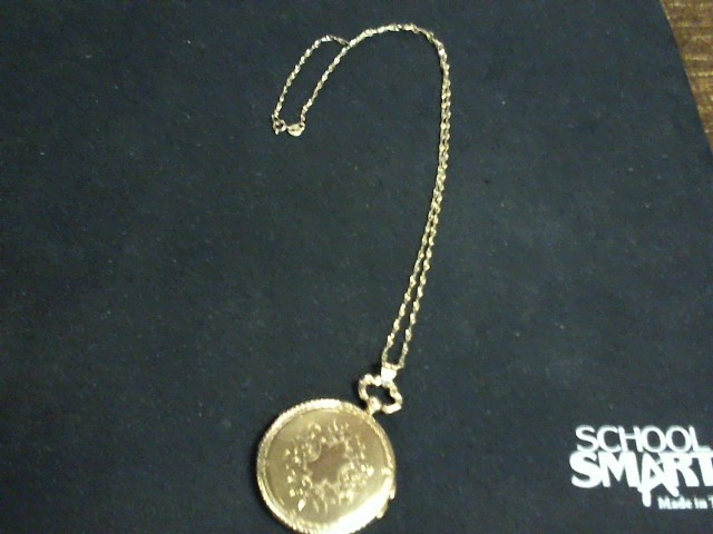 "17"" Gold Chain Locket 14K Yellow Gold 5dwt"