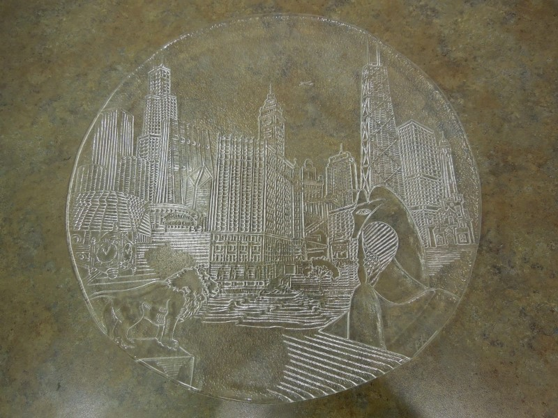 CITY SKYLINE COLLECTIBLE PLATE