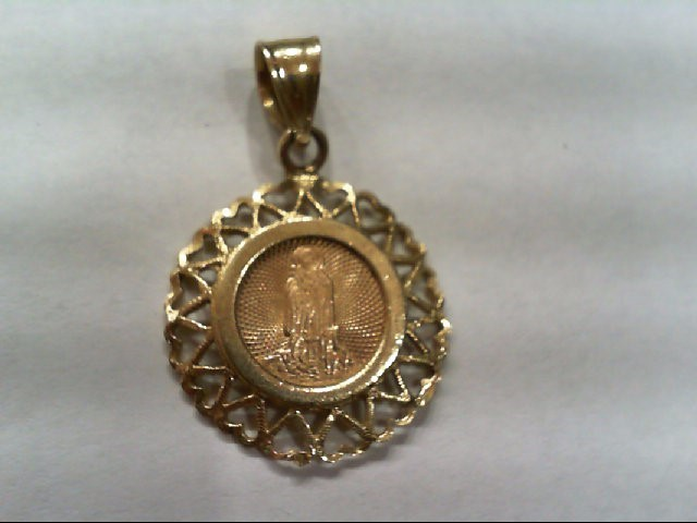Gold Charm 14K Yellow Gold 2.3g