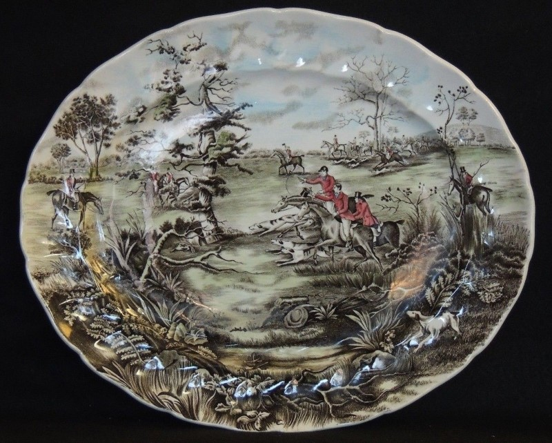 JOHNSON BROTHERS PORCELAIN Glass/Pottery Vintage Johnson Brothers Tally Ho View